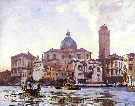 Palazzo Labia and San Geremia, Venice, 1913 | Sargent | Painting Reproduction