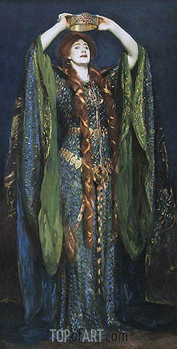Miss Ellen Terry as Lady Macbeth, 1889 | Sargent | Painting Reproduction