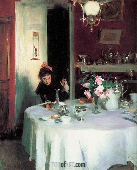 The Breakfast Table, 1884 | Sargent| Painting Reproduction