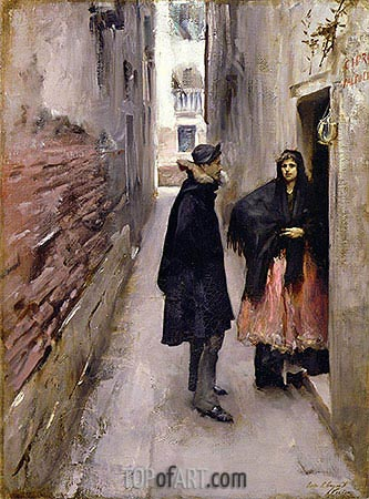 Street in Venice, c.1880/82 | Sargent| Painting Reproduction