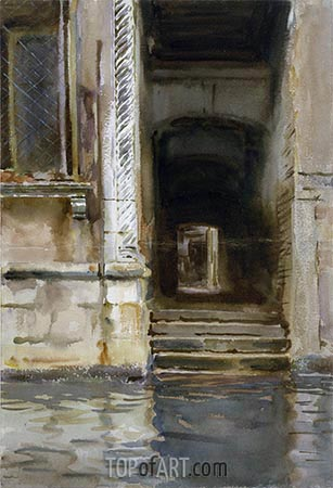 Venetian Passageway, c.1905 | Sargent| Painting Reproduction