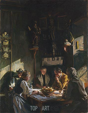 Tyrolese Interior, 1915 | Sargent| Painting Reproduction