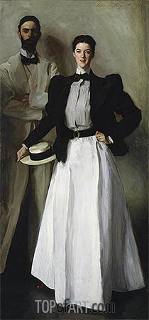 Mr. and Mrs. I. N. Phelps Stokes, 1897 | Sargent| Gemälde Reproduktion
