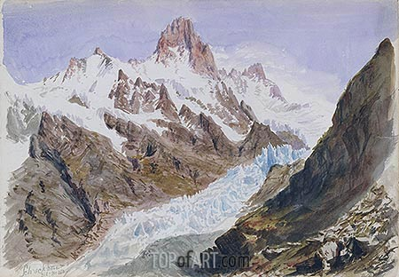 Schreckhorn, Eismeer (Splendid Mountain), 1870 | Sargent| Painting Reproduction