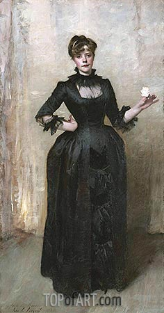 Lady with the Rose (Charlotte Louise Burckhardt), 1882 | Sargent| Painting Reproduction