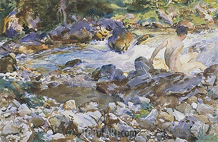 Mountain Stream, c.1912/14 | Sargent| Painting Reproduction