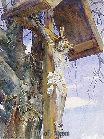Tyrolese Crucifix, 1914 | Sargent | Painting Reproduction