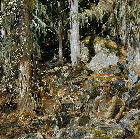 The Hermit (Il solitario), 1908 | Sargent | Painting Reproduction