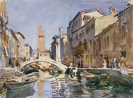 Venetian Canal, 1913 | Sargent | Painting Reproduction