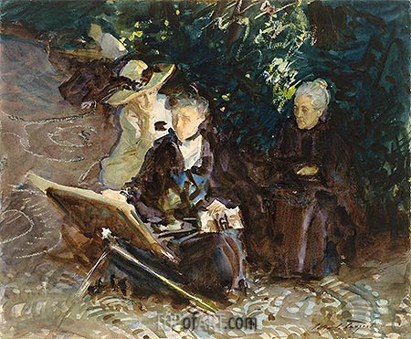 In the Generalife, 1912 | Sargent| Painting Reproduction