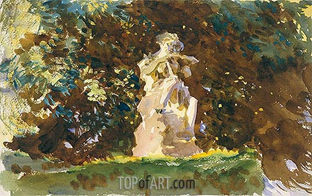 Boboli Garden, Florence, c.1906/07 | Sargent| Painting Reproduction