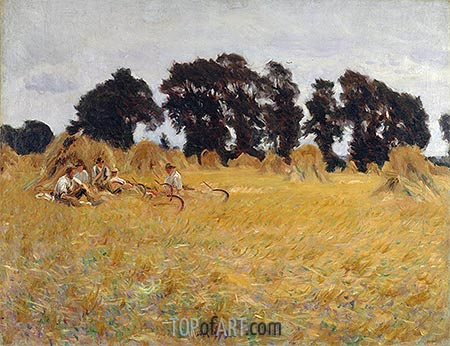 Reapers Resting in a Wheat Field, 1885 | Sargent| Gemälde Reproduktion