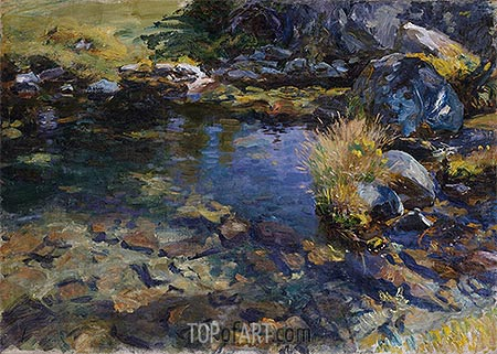 Alpine Pool, 1907 | Sargent| Painting Reproduction