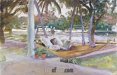 Figure in Hammock, Florida, 1917 | Sargent | Painting Reproduction