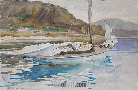 Idle Sails, 1913 | Sargent | Painting Reproduction