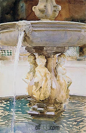 Sargent | Spanish Fountain, 1912