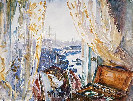 View from a Window, Genoa, c.1911 | Sargent| Painting Reproduction
