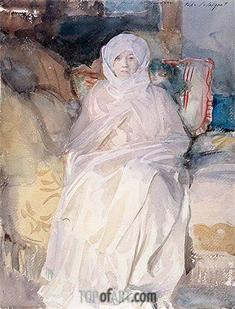 Mrs. Gardner in White, 1922 | Sargent| Painting Reproduction