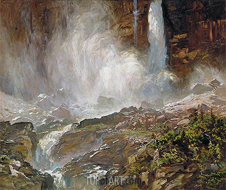 Yoho Falls, 1916 | Sargent | Painting Reproduction