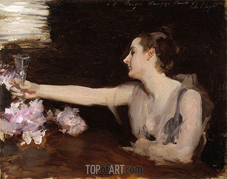 Madame Gautreau Drinking a Toast, c.1882/83 | Sargent | Painting Reproduction
