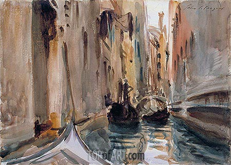 Rio di San Salvatore, Venice, c.1906/11 | Sargent | Painting Reproduction