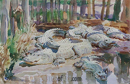 Muddy Alligators, 1917 | Sargent| Painting Reproduction
