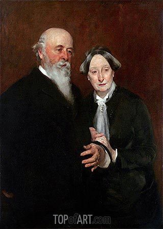Mr. and Mrs. John W. Field, 1882 | Sargent | Painting Reproduction