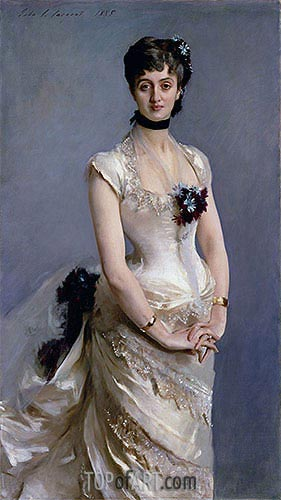 Madame Paul Poirson, 1885 | Sargent | Painting Reproduction