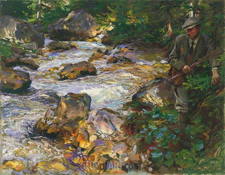 Trout Stream in the Tyrol, 1914 | Sargent| Painting Reproduction