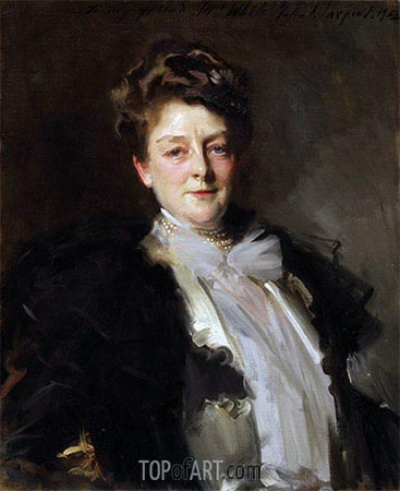 Portrait of Mrs. J. William White, 1903 | Sargent | Gemälde Reproduktion