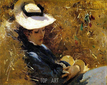 Resting, c.1875 | Sargent | Painting Reproduction