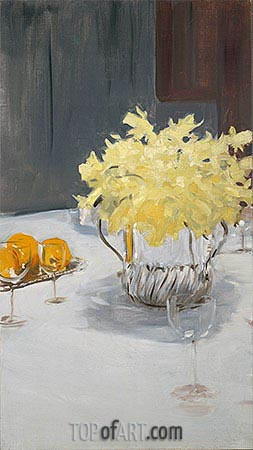 Still Life with Daffodils, c.1885 | Sargent| Painting Reproduction