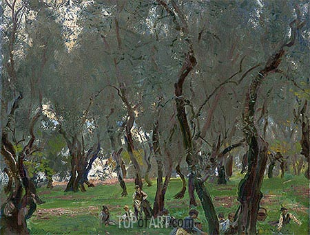 The Olive Grove, c.1910 | Sargent | Gemälde Reproduktion