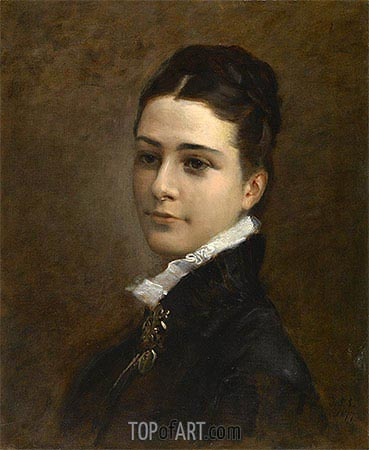 Mrs. Charles Deering, 1877 | Sargent | Painting Reproduction