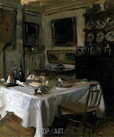 My Dining Room, c.1883/86 | Sargent| Painting Reproduction