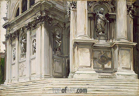 Santa Maria della Salute, Venice, c.1904 | Sargent | Painting Reproduction