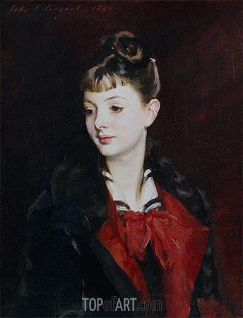Portrait of Mademoiselle Suzanne Poirson, 1884 | Sargent| Painting Reproduction