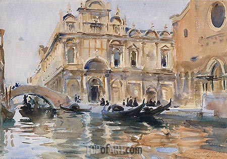 Rio dei Mendicanti, Venice, c.1909 | Sargent | Painting Reproduction