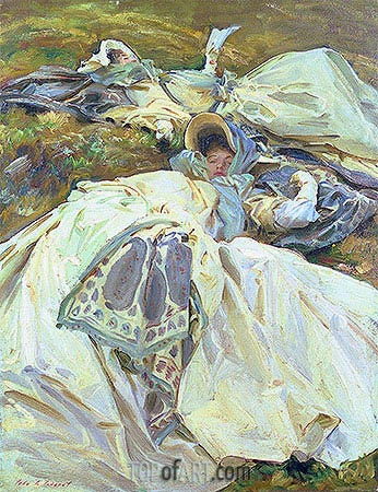 Two Girls in White Dresses, c.1909/11 | Sargent | Gemälde Reproduktion