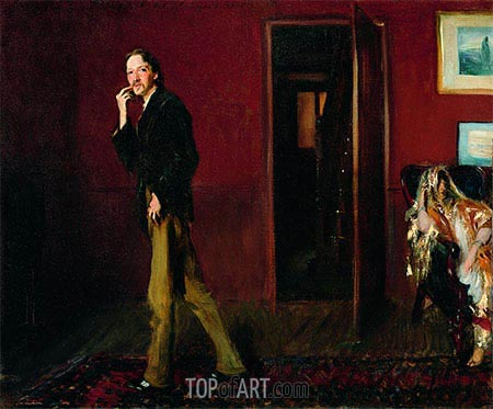 Robert Louis Stevenson and His Wife, 1885 | Sargent| Painting Reproduction