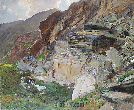 In the Simplon Valley, c.1910 | Sargent| Painting Reproduction