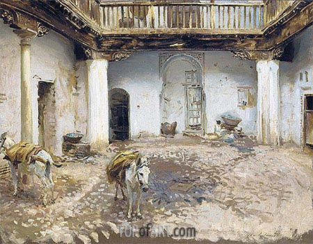 Moorish Courtyard, 1913 | Sargent | Painting Reproduction
