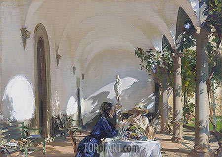 Sargent | Breakfast in the Loggia, 1910