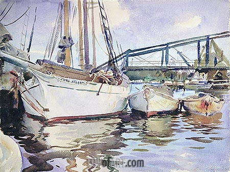 Sargent | Boats at Anchor, 1917