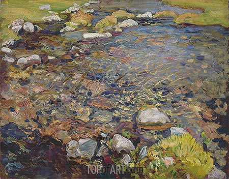 Stream in Val d'Aosta, c.1909 | Sargent | Painting Reproduction
