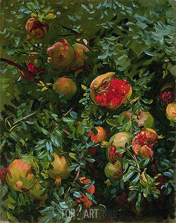 Pomegranates, Majorca, c.1908 | Sargent | Painting Reproduction