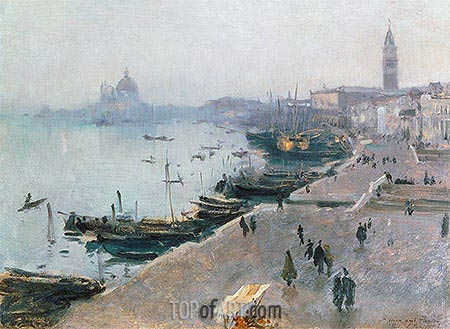 Venice in Grey Weather, undated | Sargent | Gemälde Reproduktion