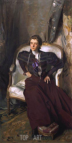Portrait of Mrs Alice Brisbane Thursby, 1898 | Sargent| Gemälde Reproduktion