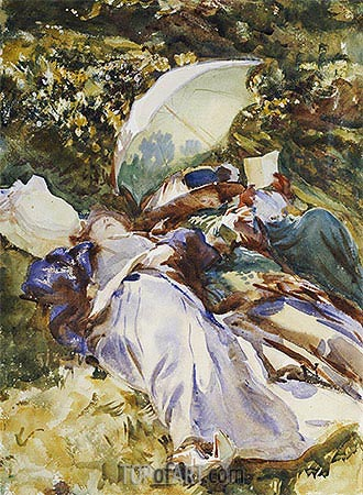 The Green Parasol, c.1910 | Sargent| Painting Reproduction