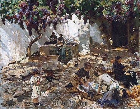 Women at Work, c.1910 | Sargent | Painting Reproduction